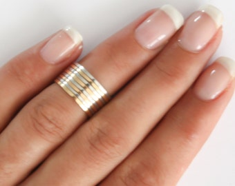 Gold stacking rings, 12 mix Above the knuckle rings, gold midi ring, plain band midi rings, gold shiny thin rings set of 12