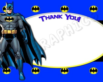 Batman 4x6 Thank You Card - Printable