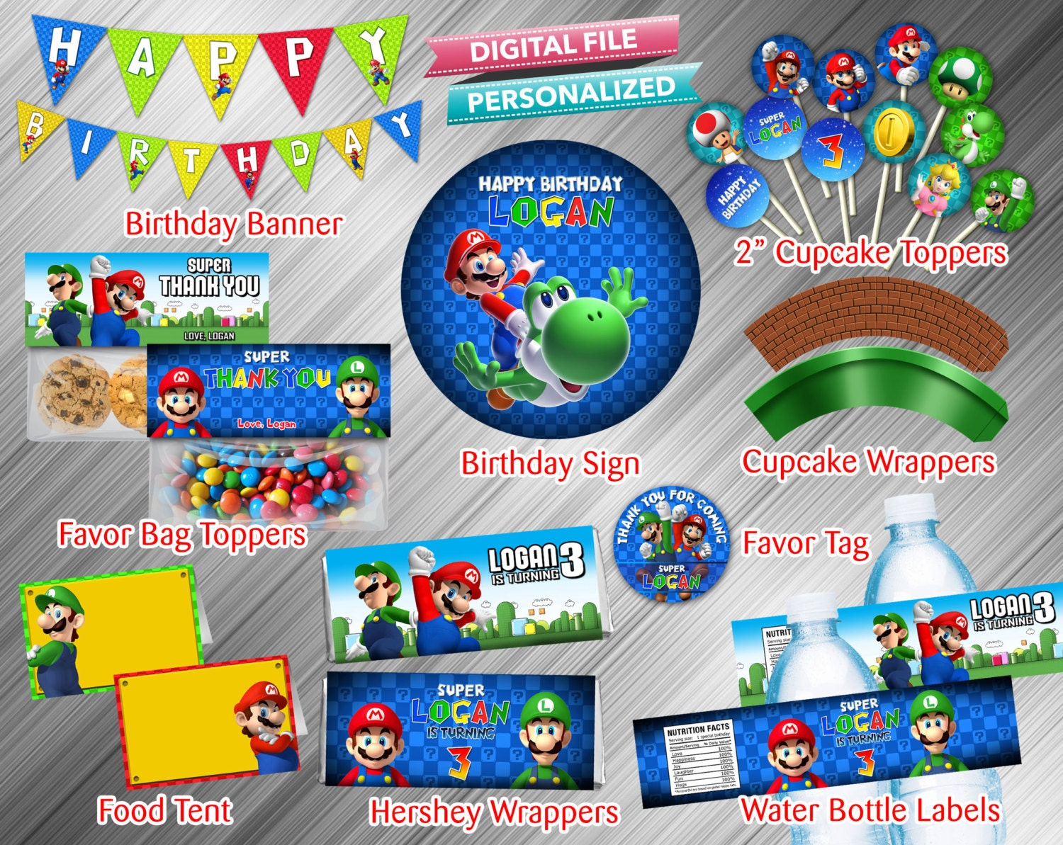 It's just an image of Mesmerizing Super Mario Party Printables