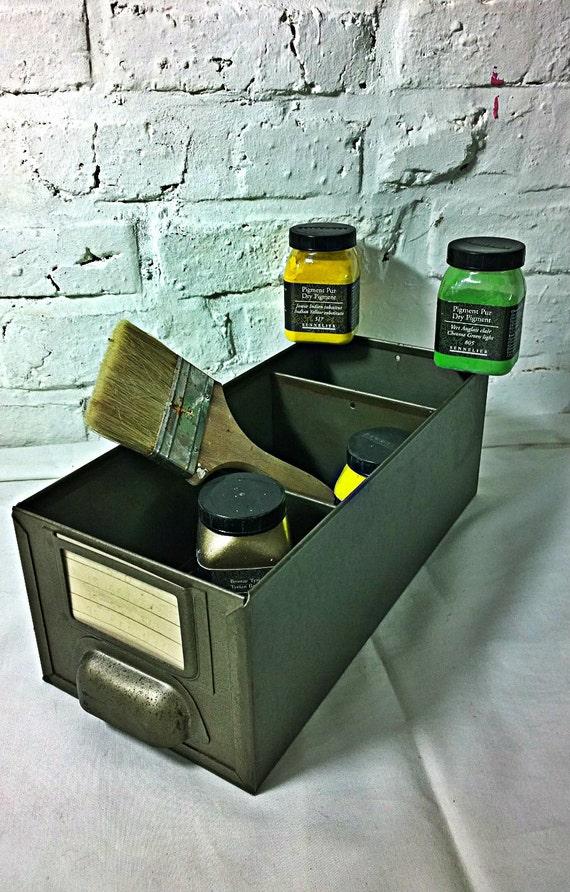 ancien tiroir boite industriel vintage. Black Bedroom Furniture Sets. Home Design Ideas