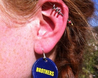 Upcycled Brothers Cider Bottle Cap Earrings