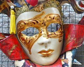 Portrait Photography - Hand Crafted Italian Mask - Orvieto Italy - Italian photography - wall art - fine art photography -Travel photography