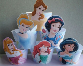 24 Princesses cupcake wrappers