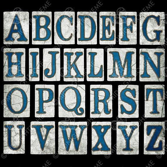 Scrapbook Element Digital Alphabet New Orleans Street Tiles