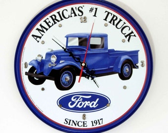 Ford Sign Wall Clock - 11.75 Diameter - NEW