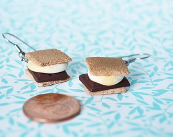 Polymer Clay S'mores Earrings