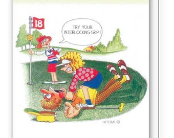 Women's Birthday Card for Golfers