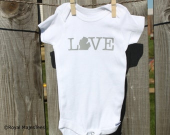 Michigan Love Onesies®, Mitten, Baby Michigan
