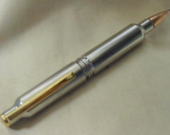 Bullet Pen Magnum Nickel Cross Style Full Turn Twist