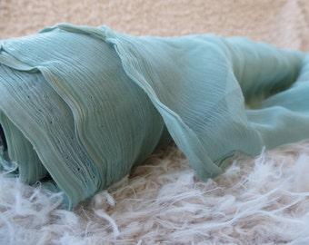 Mint Green Chiffon Fabric by the Yard, Fabric Yardage, Chiffon by the Yard, Fabric by the Yard