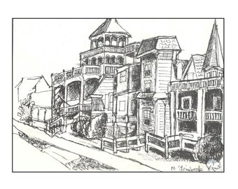 Victorian Cape May.  Blank Note Card.  4.25x5.5