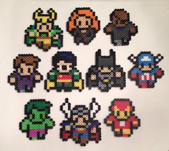 Marvel comics Avengers superhero perler bead by ...   Superhero Fuse