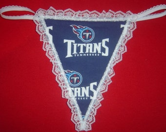 Womens TENNESSEE TITANS G-String Thong Female Nfl Lingerie Football Underwear