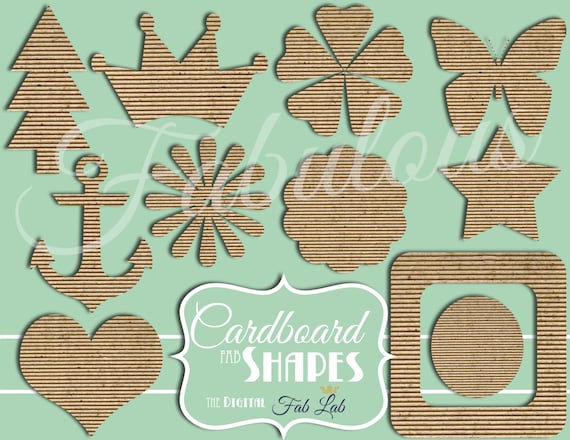 Cardboard Shapes And Elements, Crown, Butterfly, Flowers
