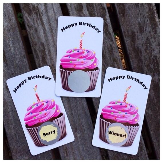 Happy Birthday Scratch Off Game Card