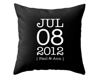 Personalized Custom Anniversary pillow Personalized pillow customized cushion cover wedding anniversary gift personalized anniversary pillow