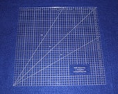 "10"" Square Ruler. Acrylic 1/8"" thick. Quilting/Sewing/Embroidery"