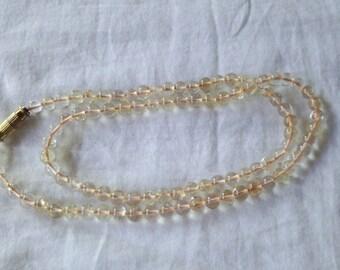 Citrine Necklace 4MM Round Beads Gemstone Mala