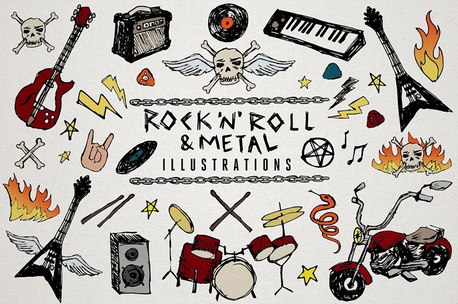 rock n roll clipart amp heavy metal music clip art