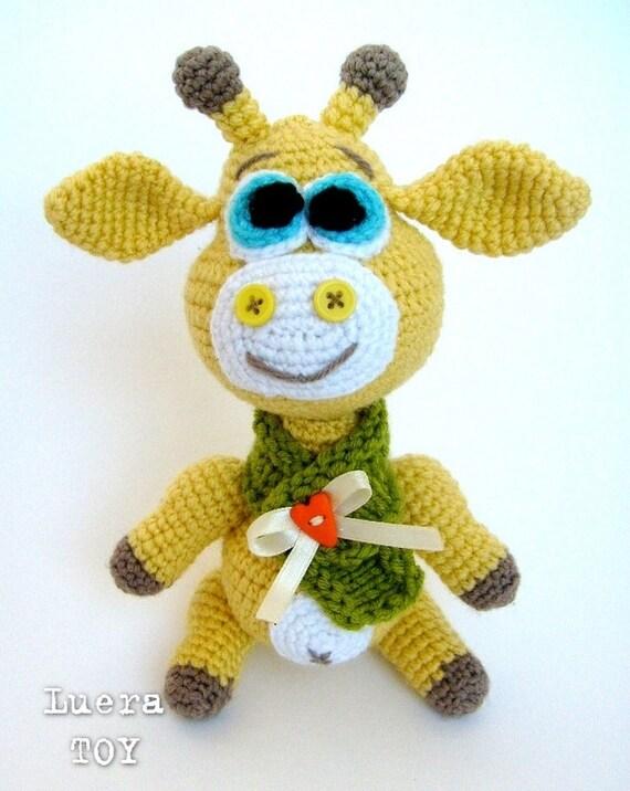 Giraffe George Amigurumi : George the Giraffe - Crochet toy Amigurumi pattern PDF ...