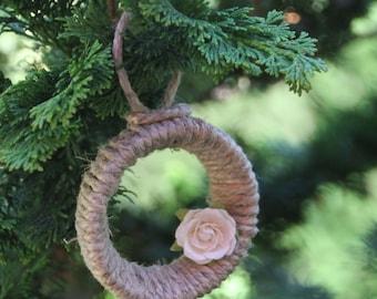 Twine Christmas Tree Ornament