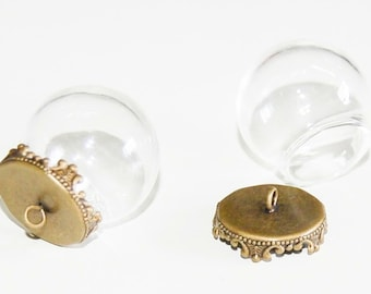 Hollow bead glass globe with Cap