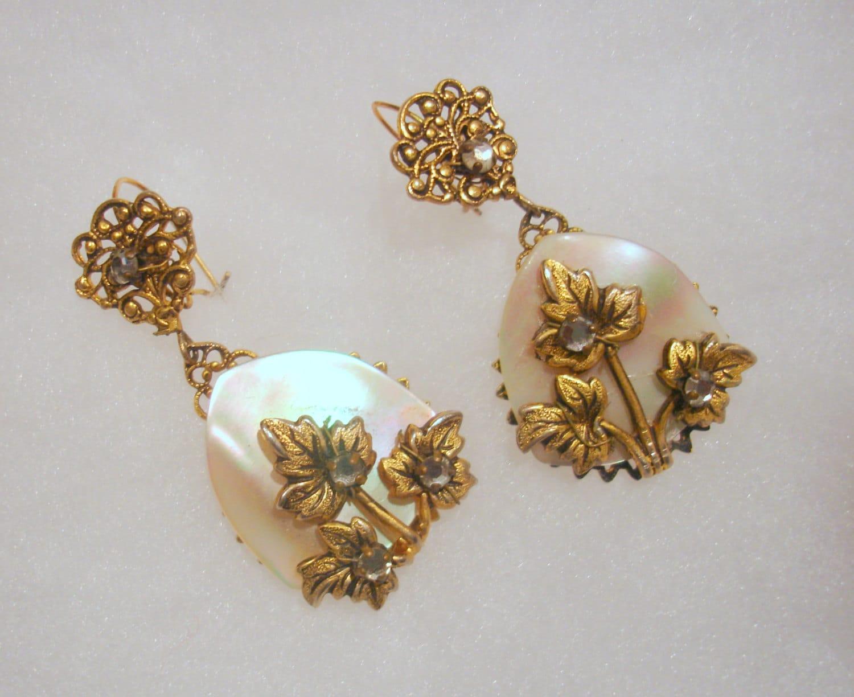 vintage wedding earrings 1950 s of pearl earrings