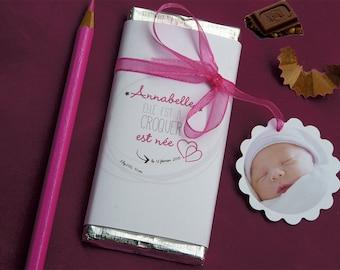 birth announcements chocolate mini
