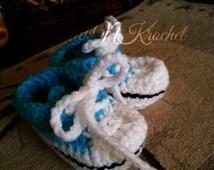 Crochet Tennis shoe, sneaker, high tops