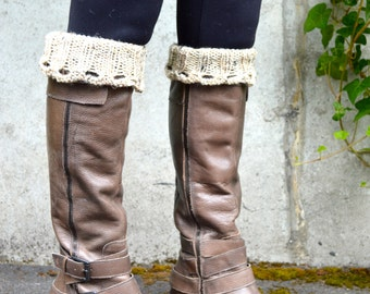 Boot Cuffs, Boot Toppers, Leg Warmers, Boot Warmers / THE WILLAMETTES  / oatmeal