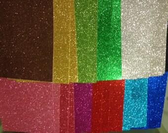 Glitter Foam Sheets - Glittler Foam Sheets Goma Eva Sheets Size 11 inches by 8 1/2 sheet Letter Size