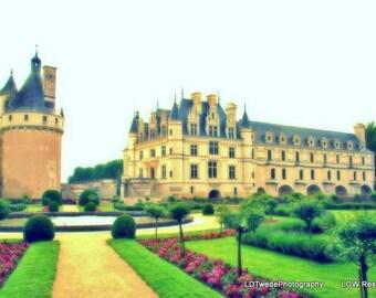 France Photograph, Castle Photograph, Loire Valley Photo, Chateau Photograph, Chenonceau Castle,  Chateau, French Landscape, French Fine Art