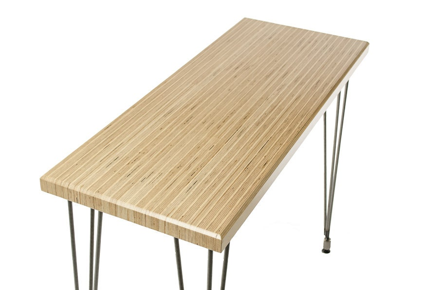 Laminated baltic birch console table with rod adjustable
