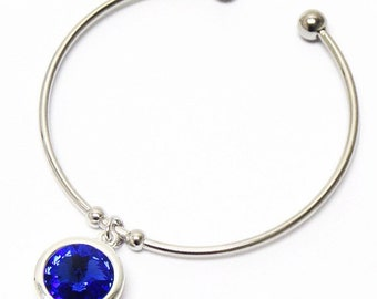Blue Swarovski Bangle