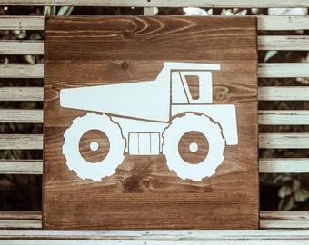 Wooden Truck Wall Art - Dump truck