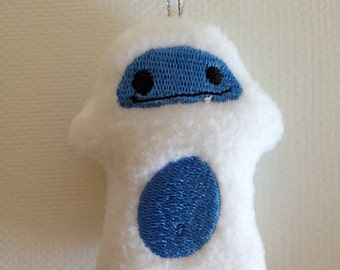 Embroidered Yeti / Stuffed Toy / Ornament