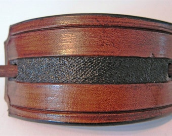 Antique Brown Leather Barrette