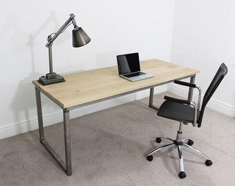 Remington Russell Oak & Steel 5ft Industrial Vintage Office Desk Table