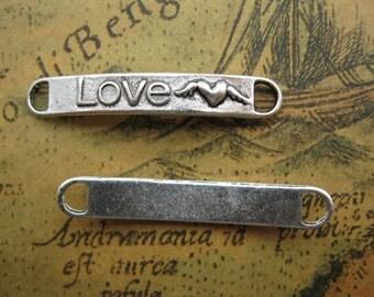 """10pcs 6x38mm Letter """"Love"""" Pendant Connector M A"""
