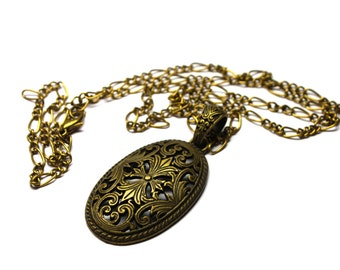 Handmade Antique Brass Necklace