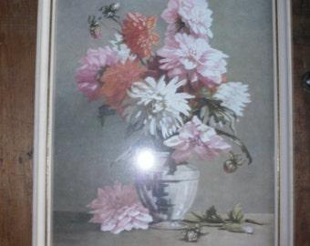 Vintage 1940's floral painting