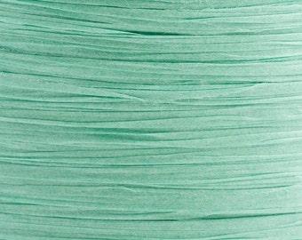 10m x 7mm Aquamarine Paper Tying Raffia Ribbon