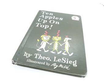 Ten Apples Up on Top !1961 Hardcover book by Theo Lesieg