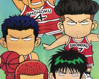 Slamdunk Shohoku Team Hanamichi Sakuragi Rukawa Kaede 34x24 Poster