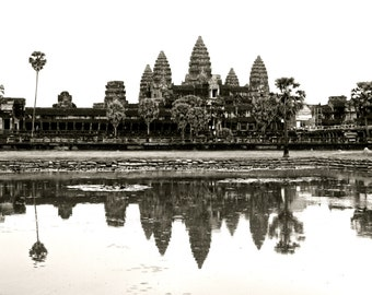 Cambodia Angkor Wat Photography, Fine Art Print of Temple in Siem Reap, Cambodian Landscape Photo Series