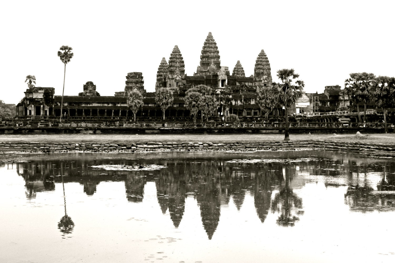It's just an image of Delicate Angkor Wat Drawing