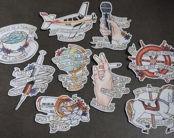 Fall Out Boy Folie a Deux Sticker Set (Full Set)
