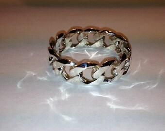 Sterling .925 Chain Link Ring