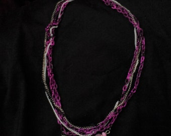 purple chain necklace