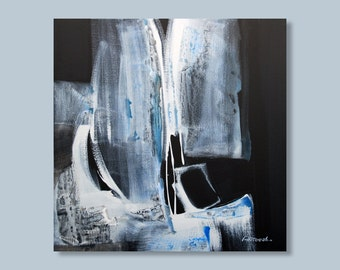 Abstract Painting, Modern Painting Original Painting Black and White